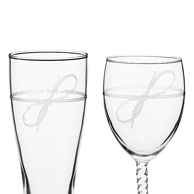 Tie the Knot Glassware Duo