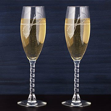 Tie the Knot Champagne Flutes