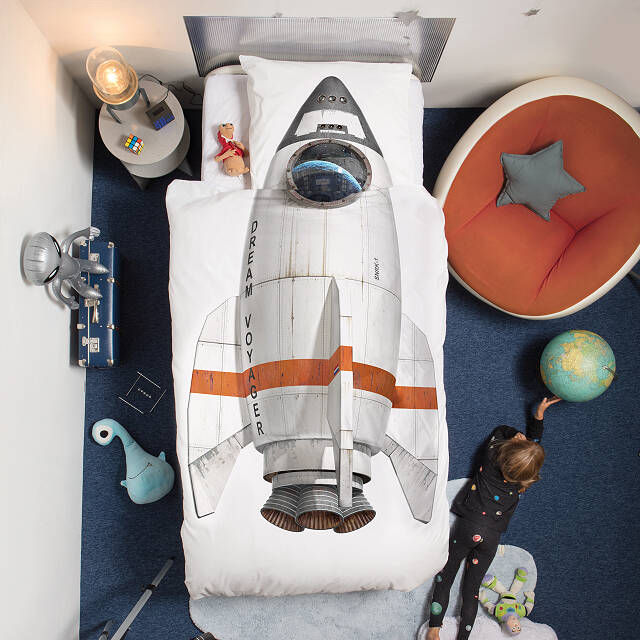 Rocket Duvet & Pillowcase Set