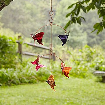 Copper Butterfly Garden Mobile