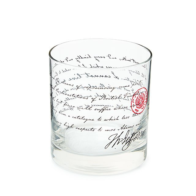 Jefferson - I Can't Live Without Books Glass