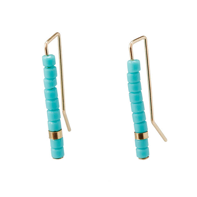 Turquoise Totem Ear Climbers