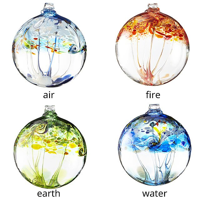 Recycled Glass Element Globes