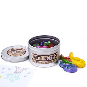 Earth Worm Recycled Crayons