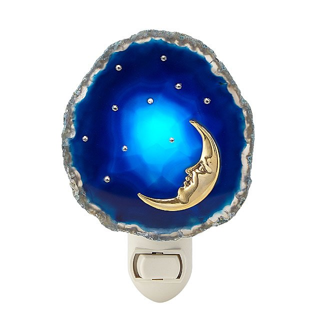Moon & Stars Agate Nightlight