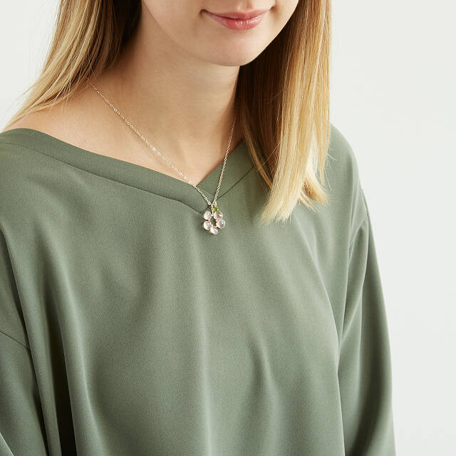 Rosie Gemstone Flower Necklace