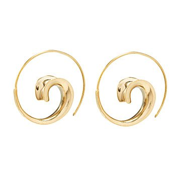Winding Spiral Earrings
