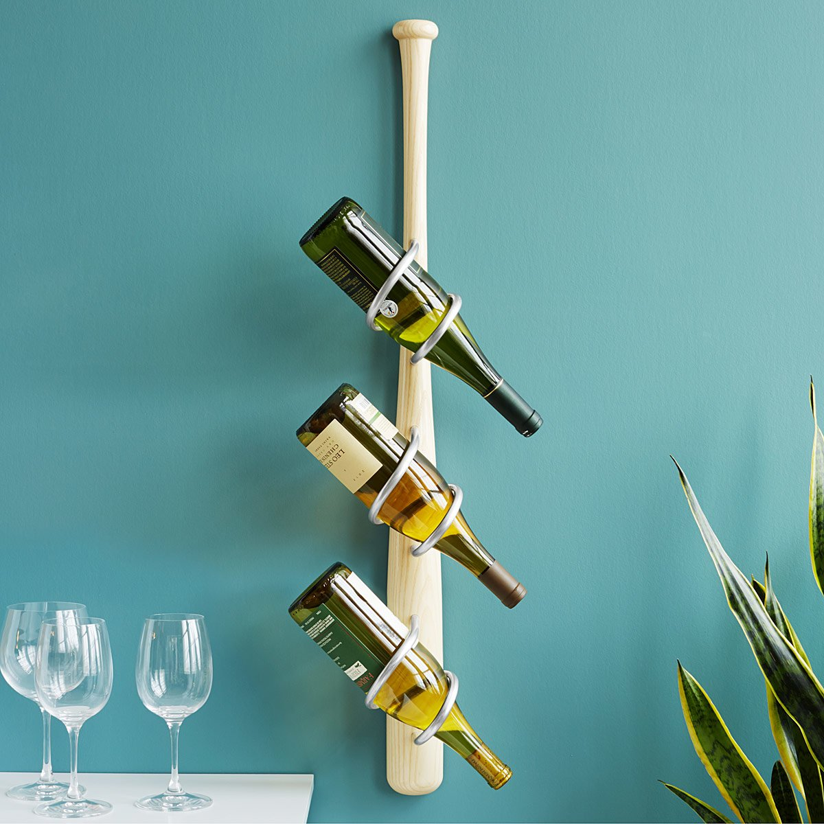 Baseball Bat Wine Rack | Unique Sports Gifts; Sporty Dining Room ...