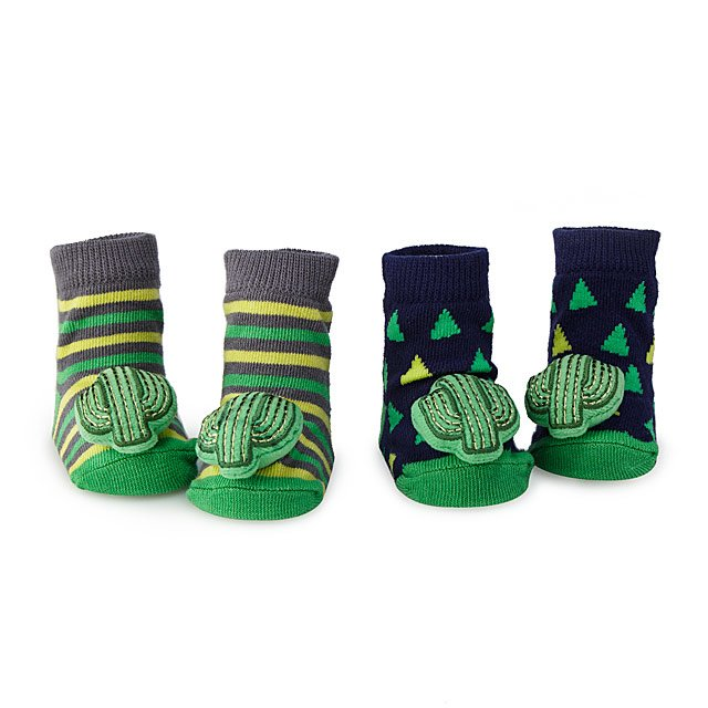 Cactus Rattle Socks- Set of 2