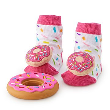 Donut Rattle Socks and Teether Set