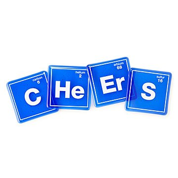 Cheers to the Element Coasters - Set of 4
