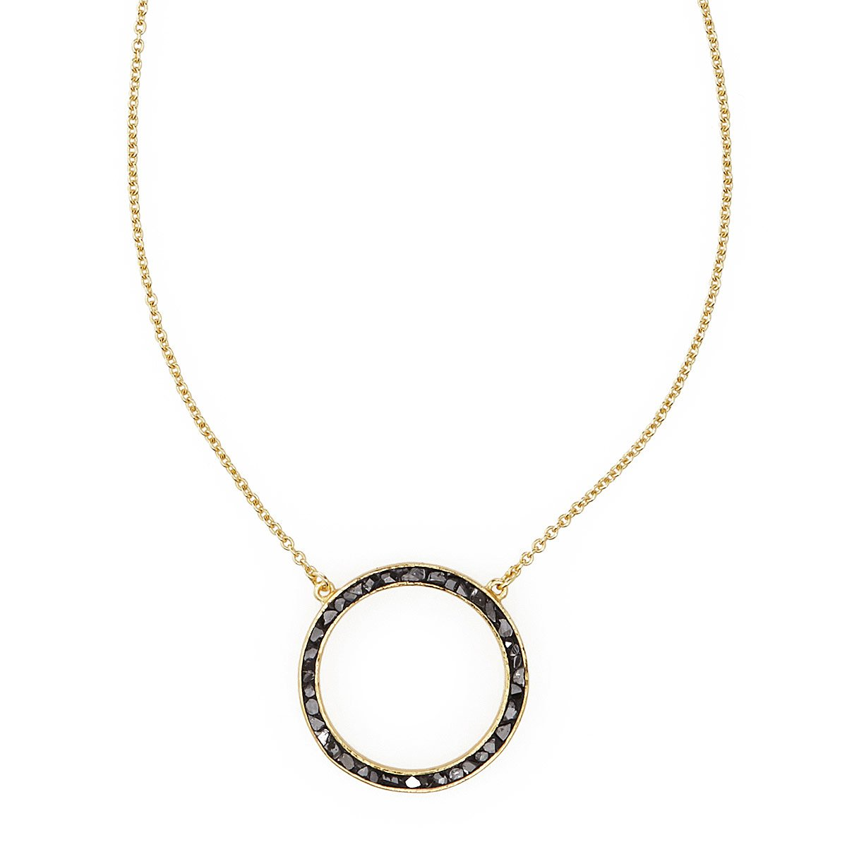 Deco diamond circle pendant black diamond necklace uncommongoods deco diamond circle pendant 1 thumbnail aloadofball Gallery