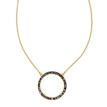 Deco Diamond Circle Pendant