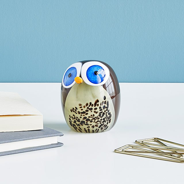 Little Owl Glass Sculpture