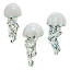 Ceramic Jellyfish Wall Sculptures - Set of 3 2 thumbnail