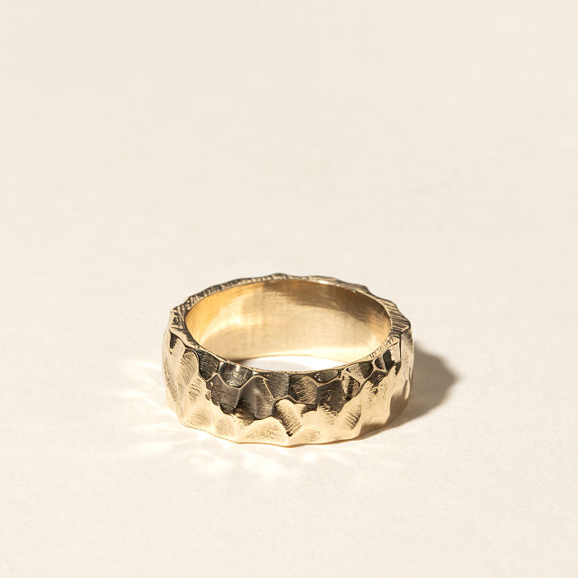 Men's Weathered Stone Ring