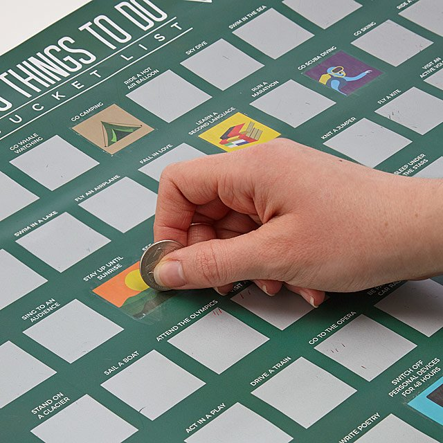 100 Things To Do Scratch Off Poster