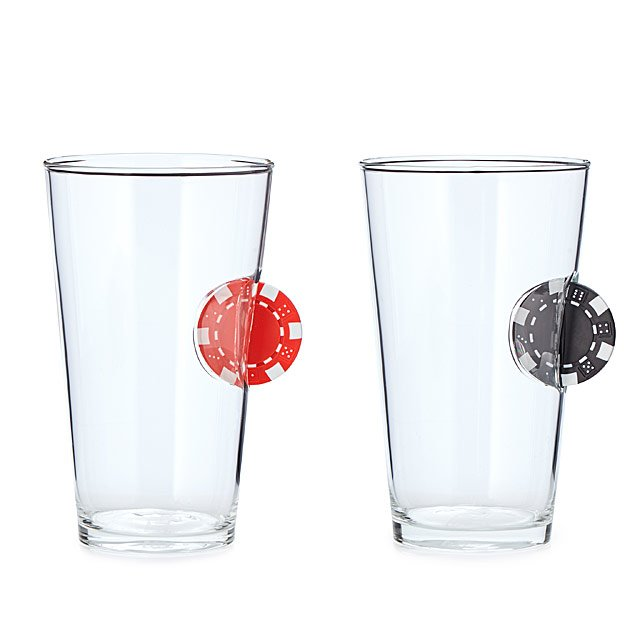Ante Up Poker Pint Glass
