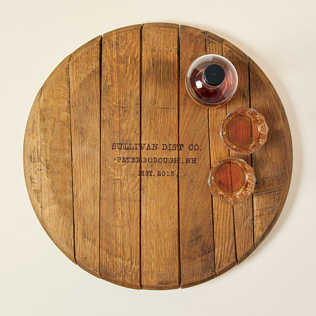 Custom Bourbon Barrel Lazy Susan Handmade Housewarming Gifts