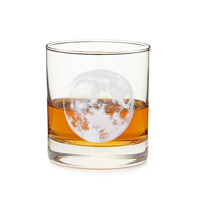 Full Moon-shine Whiskey Glass