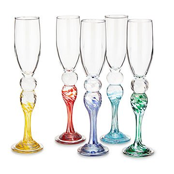 Anniversary Color Champagne Flutes