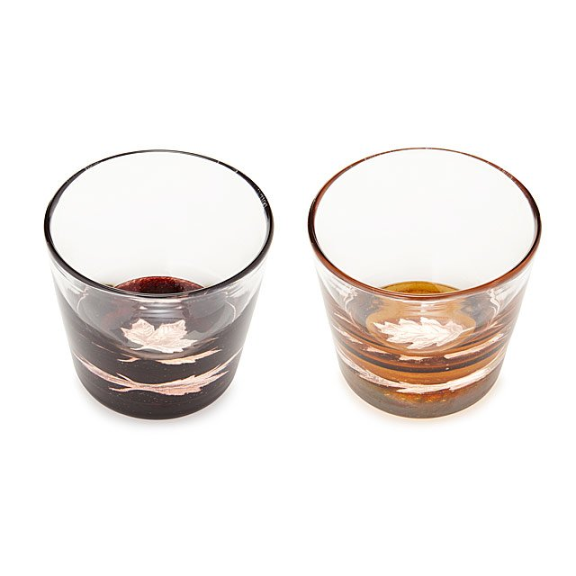 Bourbon Barrel Leaf Glasses