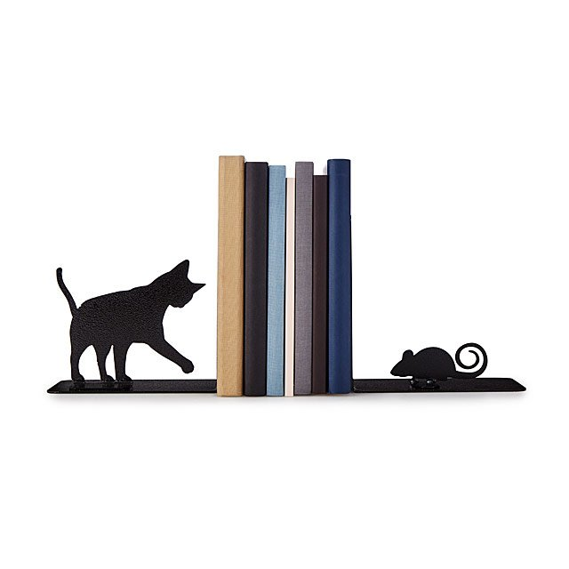Cat & Mouse Bookends