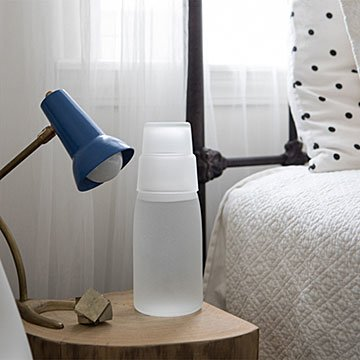 Frosted Bedside Water Decanter
