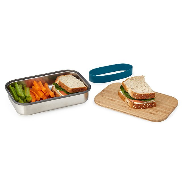 98c3899ea6 Lunch Box with Cutting Board Lid | Modern Kitchen Containers; Clever ...