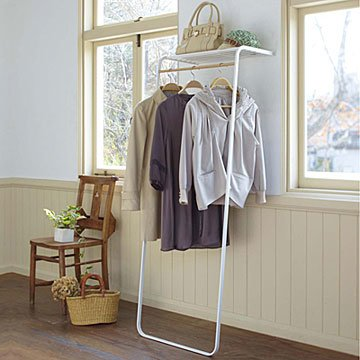 Leaning Shelf & Coat Rack
