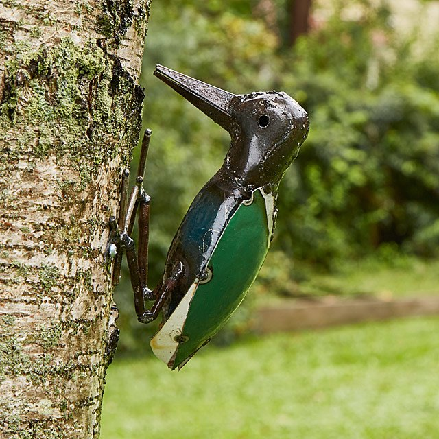 Colorful Metal Woodpecker