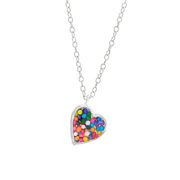Sprinkles Heart Necklace