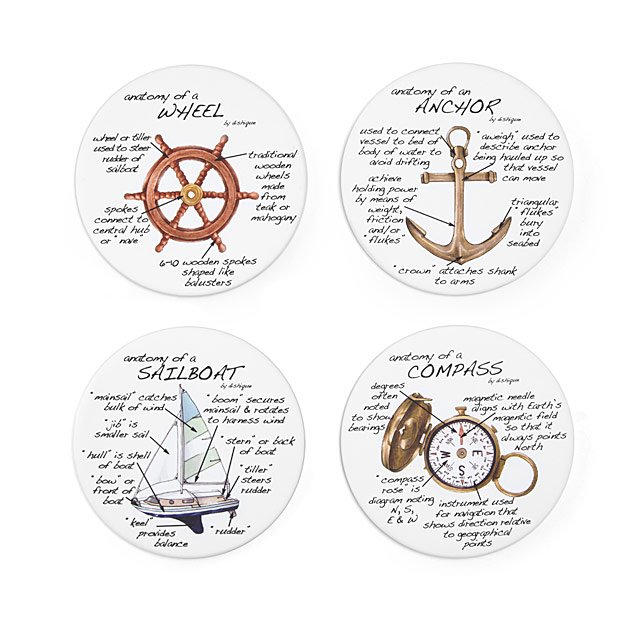 Sailing Coasters Unique Hostess Gifts For Boaters Uncommongoods