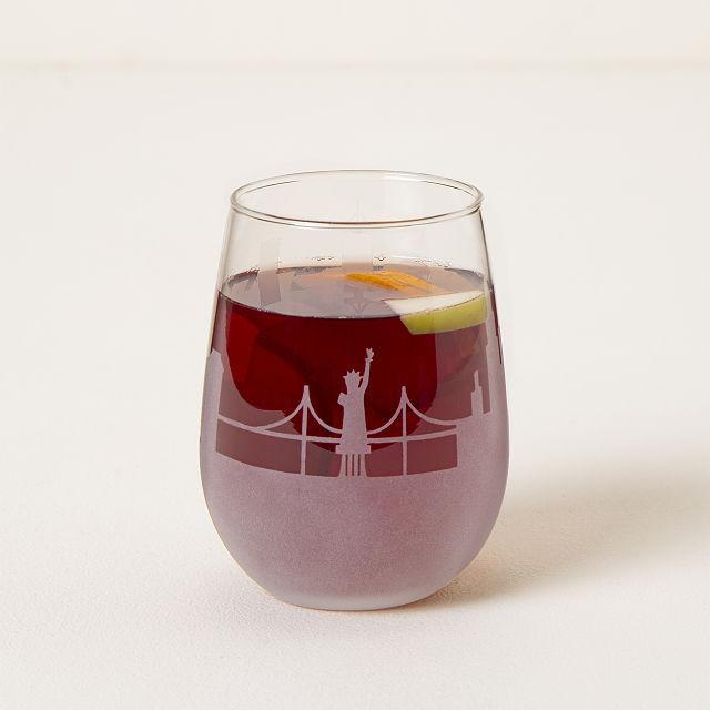 ECO Charm Wine Glass Art Set of 4