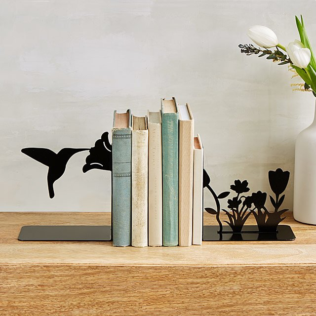 Hummingbird Bookends