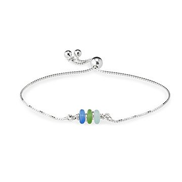 Tropical Sea Glass Bracelet