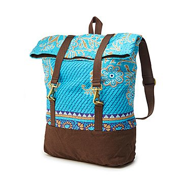 Mixed Media Sari Backpack