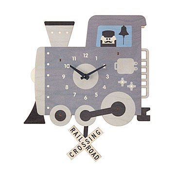 Train Pendulum Clock