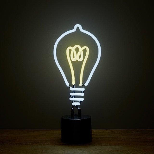 Neon Light Bulbs >> Eureka Neon Lightbulb Fun Lighting Decor Unique Desk Lamps