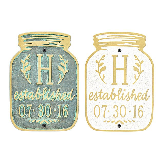 Mason Jar Home Plaque