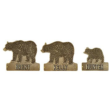 Bear Family Home Plaque
