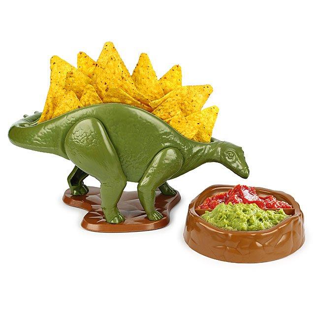 Nachosaurus Snack And Dip Set by Uncommon Goods