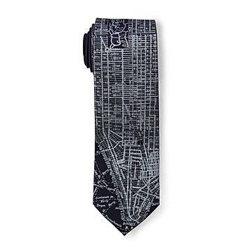 Antique City Map Ties