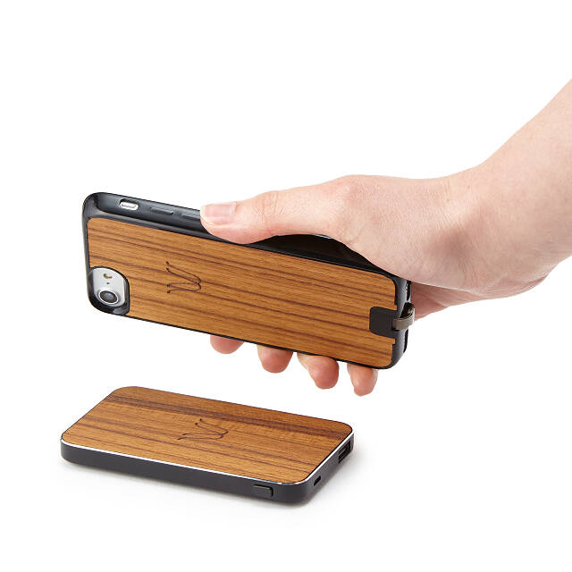 Teak Wireless Charging Bank