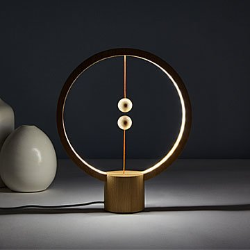 Wood Magnetic Balance Lamp