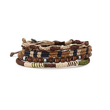 Mens Earth Bracelet Set of 4