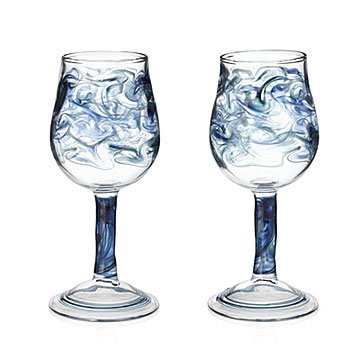 Swirling Sea Wine Glass Set
