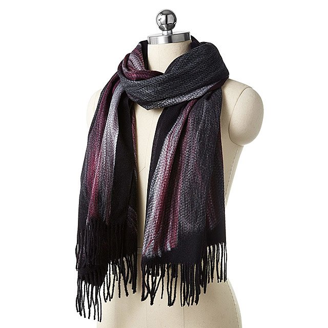 Nuno Felted Dark Ombre Oversized Scarf