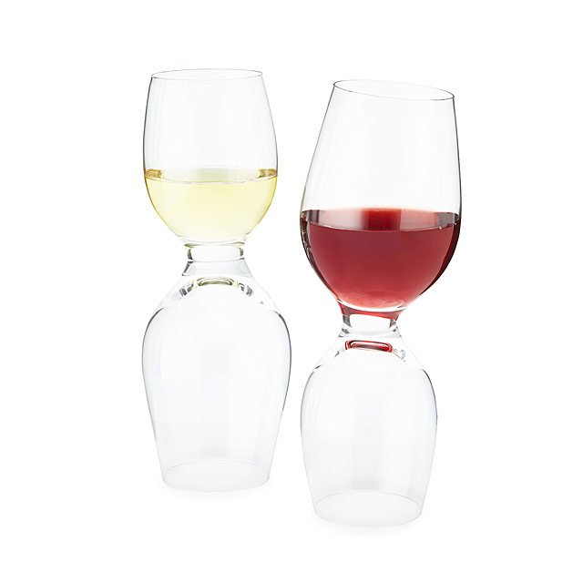 Dual-Sided Wine Glasses - Set of 2