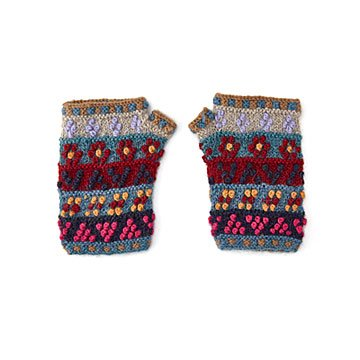 French Knot Short Handwarmer